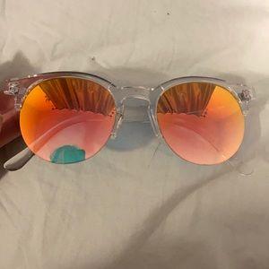 FREE ADD ON Multicolour Clear Frame Sunglasses